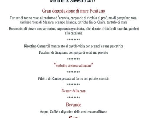 menu san silvestro 2017 Lecco